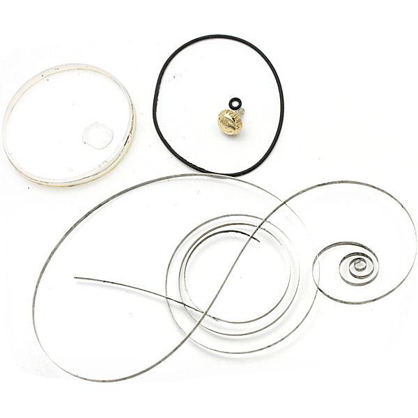 交換部品:パッキン、裏パッキン、ガラスパッキン、ゼンマイ、ガラス対応品