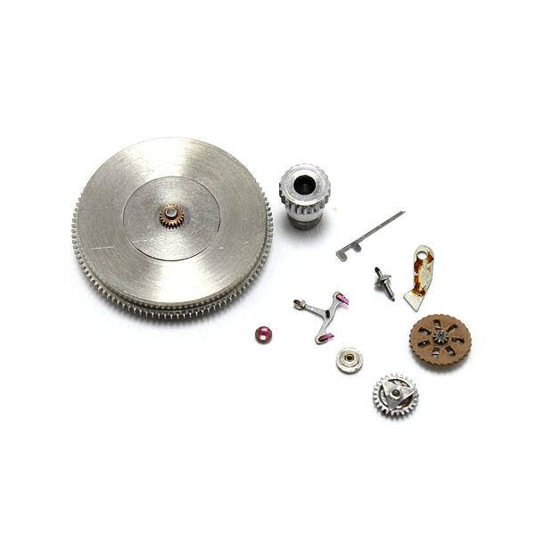 交換部品:ボタン、テンプ一式、 切替車、サビ部品