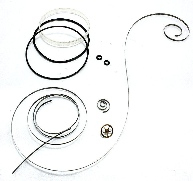 交換部品:ゼンマイ、3番車、 ガラスパッキン、パッキン