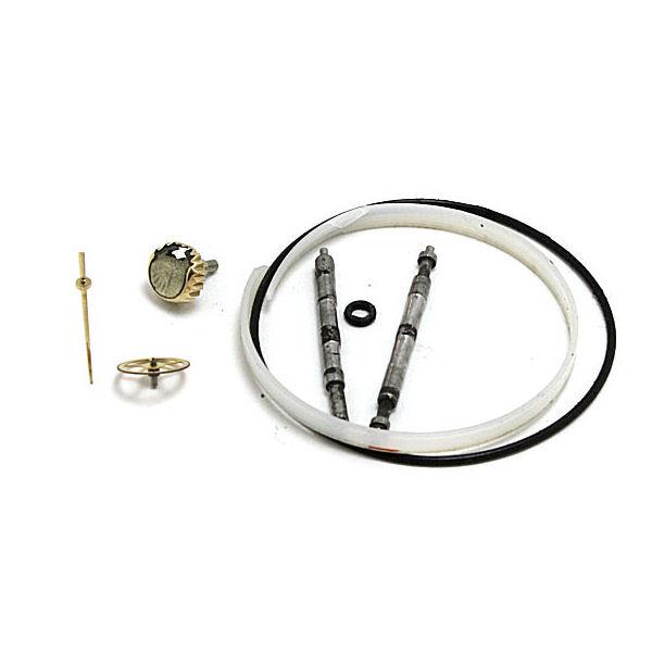 交換部品:リューズ、社外秒針、3番車、 ガラスパッキン、パッキン、バネ棒×2